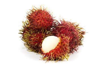 Tropical fruit rambutan