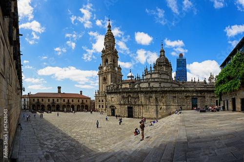 Foto op Plexiglas Bedehuis Plaza de la Quintana en Santiago de Compostela