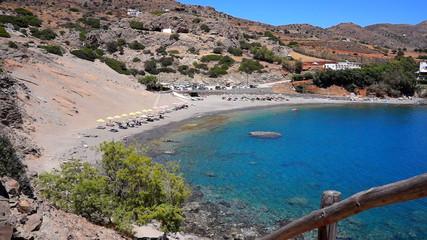 Agios Pavlos beach in Crete island, Greece