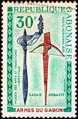Assegai and crossbow (Gabon 1970)