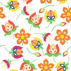 Folk pattern seamless