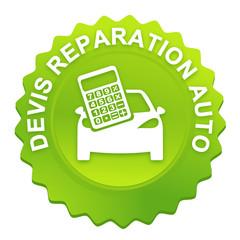 réparation auto sur bouton web denté vert