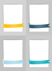 Set of banners with ribbons