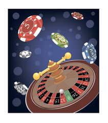 Roulette Wheel cartoon