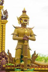 golden giant in temple
