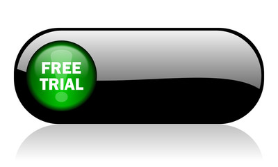 free trial black glossy banner