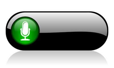 microphone black glossy banner