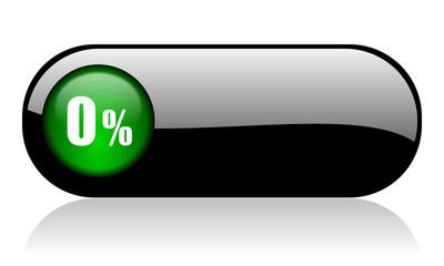 0 percent black glossy banner