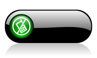 no phone black glossy banner