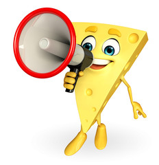 Cheese Character with loudspeaker