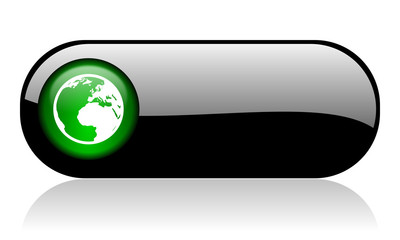 earth black glossy banner