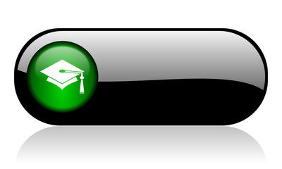education black glossy banner