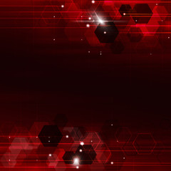 Geometric Red Technology Background