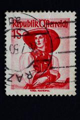 Alte Briefmarke_Österreich_2