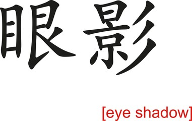 Chinese Sign for eye shadow