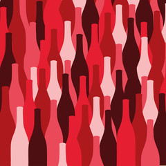 vector set of wine or vinegar bottles silhouettes