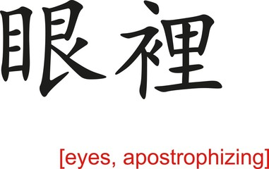Chinese Sign for eyes, apostrophizing