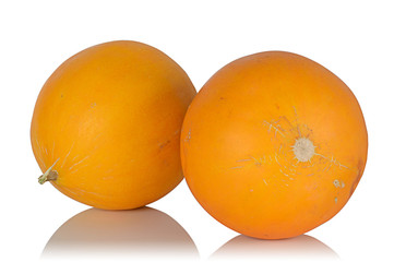 Two ripe juicy fragrant melon