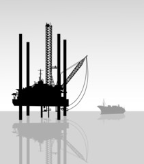 Oil Refinery-Vector