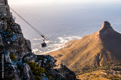 Tuinposter Zuid Afrika Table Mount Cable Car in Cape Town South Africa