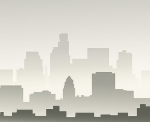 Los Angeles at Winter Morning-Vector