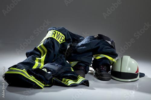In de dag Tunnel Feuerwehr Kleidung Ausrüstung