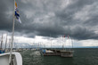 canvas print picture - Gewitter am Bodensee