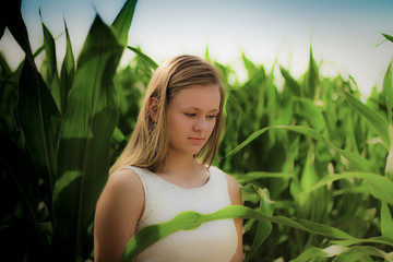 Girl in Corn