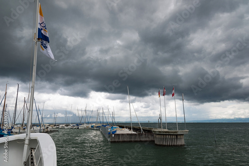 canvas print picture Gewitter am Bodensee