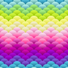 Neon rainbow light blobs seamless vector background