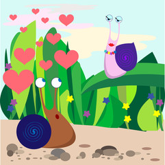 snail fall in love