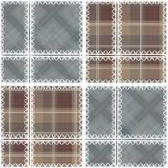 Patchwork seamless retro checkered pattern