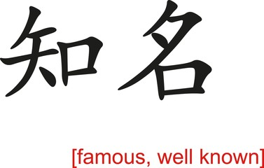 Chinese Sign for famous, well known