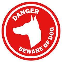 Beware of dog poster vector