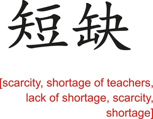 Chinese Sign for scarcity,shortage of teachers,lack of shortage
