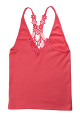 Red Cotton Women's T-shirt.