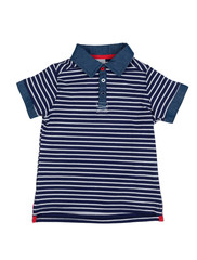 Blue striped polo shirt