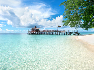 Main Pier at Sipadan Island, Sabah, Malaysia