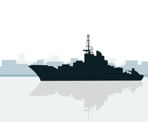 Ship at Morning-Vector