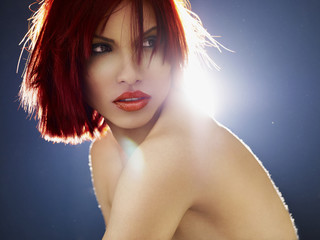 Pretty red-haired gir
