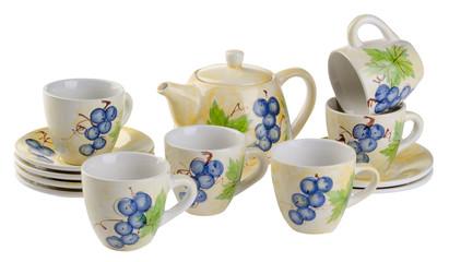 tea sets. tea sets on a background