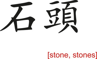 Chinese Sign for stone, stones