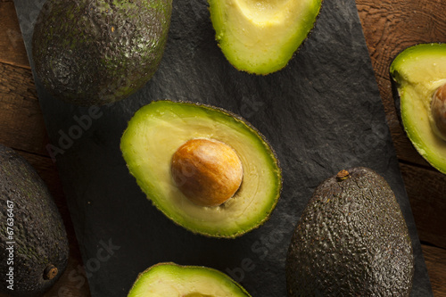 canvas print picture Organic Raw Green Avocados