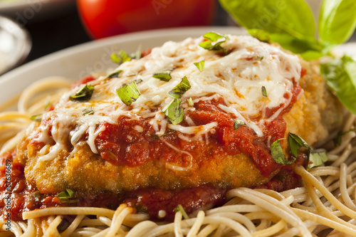 Foto op Canvas Vlees Homemade Italian Chicken Parmesan