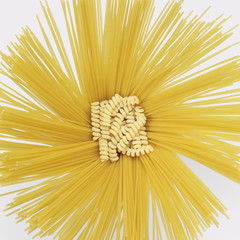 radial spaghetti and fusilli