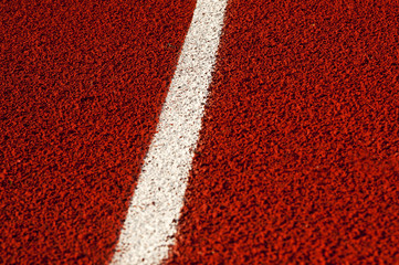 Red Running track rubber cover