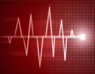 heart shape cardiogram