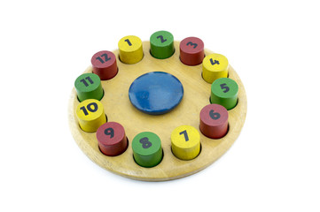 Blocks toy with different numbers