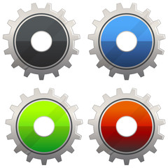 Gear Icon Set - Illustration