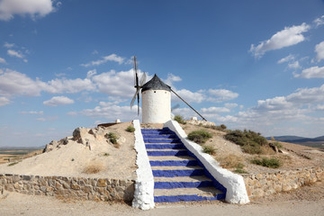Traditional windmill in Castilla-La Mancha, Spain